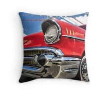 Red 57 Chevy Throw Pillow