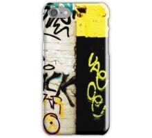 Black and Yellow Graffiti iPhone Case/Skin