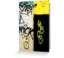 Black and Yellow Graffiti Greeting Card