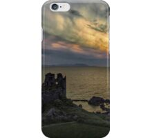 Sunset blast over Dunure Castle iPhone Case/Skin