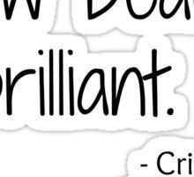 Grey's Anatomy Screw Beautiful Quote Sticker