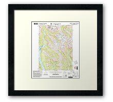 USGS TOPO Map Alaska AK Bradfield Canal A-1 354711 2000 63360 Framed Print