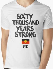 Sixty Thousand Years Strong | BFR Mens V-Neck T-Shirt