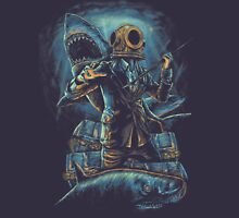 Deep Sea, Shark & Diver Unisex T-Shirt