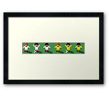 England vs Australia 2016 - Sensible World Of Soccer Sprites Framed Print