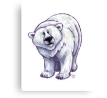 Animal Parade Polar Bear Canvas Print