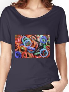 colorful rings as background Women's Relaxed Fit T-Shirt