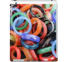 colorful rings as background iPad Case/Skin