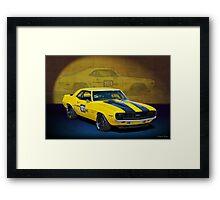 Racing Camaro Framed Print