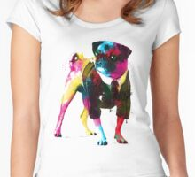 Rainbow Pug Women's Fitted Scoop T-Shirt