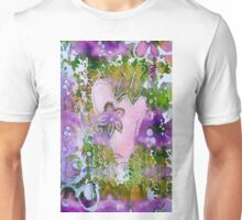 Lavender Hearts and Butterfly Unisex T-Shirt