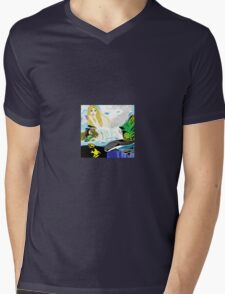 D'Mermaid Mens V-Neck T-Shirt
