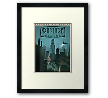 Rapture Art-Deco Travel Poster (Without Texture) Framed Print