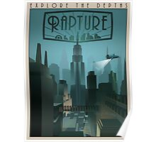 Rapture Art-Deco Travel Poster (Without Texture) Poster