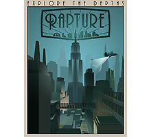 Rapture Art-Deco Travel Poster (Without Texture) Photographic Print