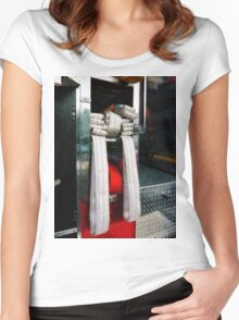 Closeup Of Fire Hoses Women's Fitted Scoop T-Shirt