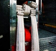 Closeup Of Fire Hoses by Susan Savad