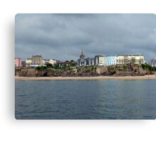 Looking Back at Tenby Canvas Print