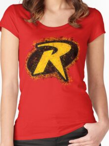Superhero Spray Paint - Robin Women's Fitted Scoop T-Shirt