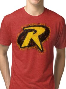 Superhero Spray Paint - Robin Tri-blend T-Shirt