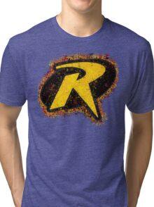 Superhero Spray Paint - Robin Tri-blend T-Shirt