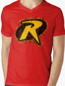 Superhero Spray Paint - Robin Mens V-Neck T-Shirt