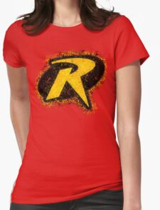 Superhero Spray Paint - Robin Womens Fitted T-Shirt