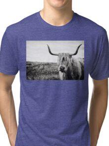 Highland Cow Tri-blend T-Shirt