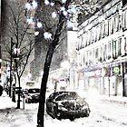 Winter Circus Street by michel bazinet