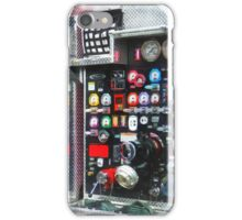 Firemen - Colorful Gauges on Fire Truck iPhone Case/Skin