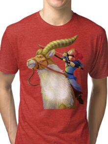 Ashitaka and Yakul  Tri-blend T-Shirt