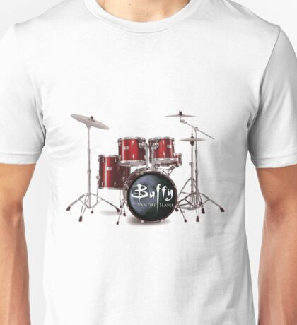 Buffy the Vampire Slayer Drums Unisex T-Shirt