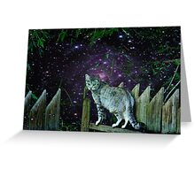 Twilight Cat~ Greeting Card