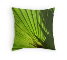 Sunny Green Throw Pillow