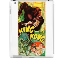 Reproduction Vintage Poster  King Kong film  iPad Case/Skin