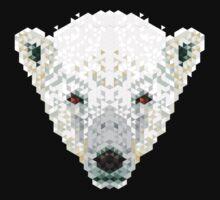 Triangle Pixels - Polar Bear Kids Tee