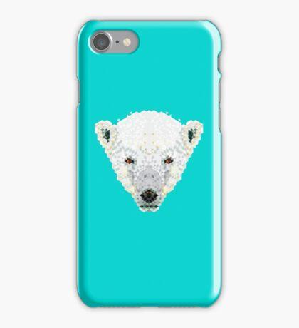Triangle Pixels - Polar Bear iPhone Case/Skin