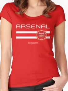 EPL 2016 - Football - Arsenal (Home Red) Women's Fitted Scoop T-Shirt