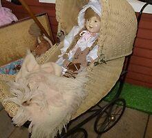 Doll In A Stroller by WildestArt