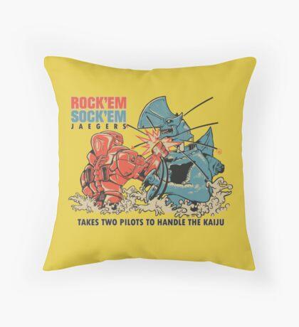 ROCK 'EM, SOCK 'EM JAEGERS Throw Pillow