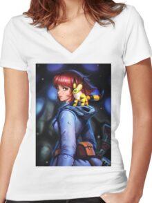 Nausicaa and teto Women's Fitted V-Neck T-Shirt