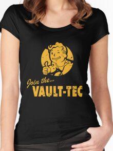 Vault Tec Women's Fitted Scoop T-Shirt