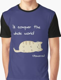 lazy cat  Graphic T-Shirt