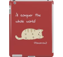 lazy cat  iPad Case/Skin