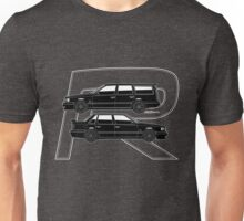 Volvo 850R T5-R Swedish Turbo Black Outline Unisex T-Shirt