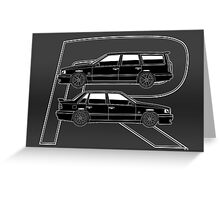 Volvo 850R T5-R Swedish Turbo Black Outline Greeting Card