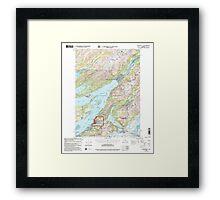 USGS TOPO Map Alaska AK Cordova C-5 355189 2000 63360 Framed Print