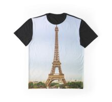 Editorial,13th May 2016:  Paris, France. Eiffel tower sunset view on blue sky background Graphic T-Shirt