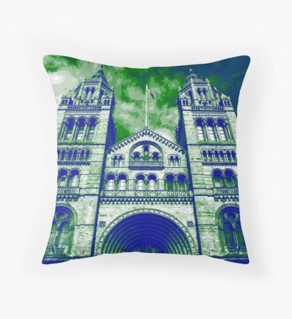 London's Natural History Museum Throw Pillow