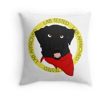 Stamp of Approval: Black Throw Pillow